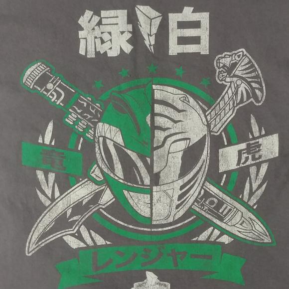 Shirts Green And White Power Ranger T Shirt Poshmark